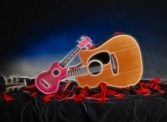 Wallpapers Music guitar et son enfant