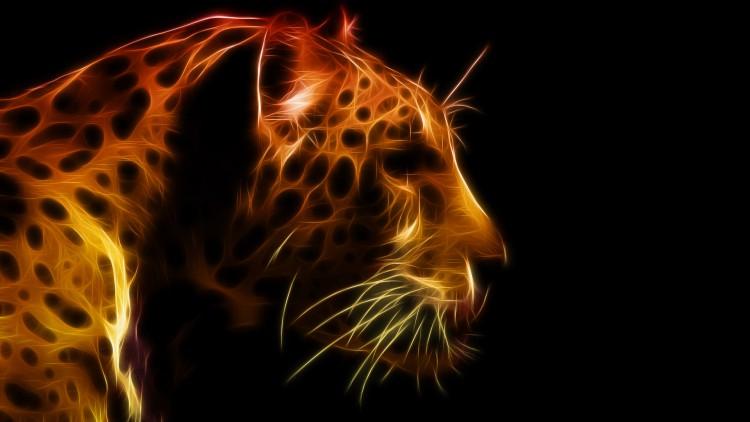Fonds d'�cran Art - Num�rique Animaux gu�pard