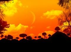 Fonds d'�cran Art - Num�rique Coucher de soleil