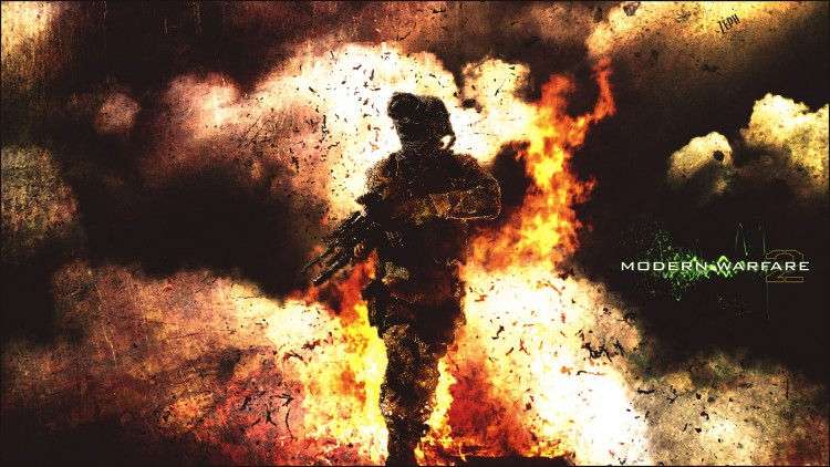 Wallpapers Video Games Call of Duty : Modern Warfare Man on Fire