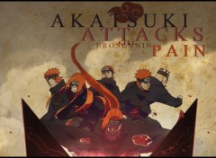 Fonds d'écran Manga Akatsuki Attacks