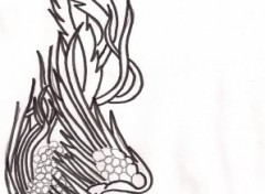 Fonds d'écran Art - Crayon phoenix
