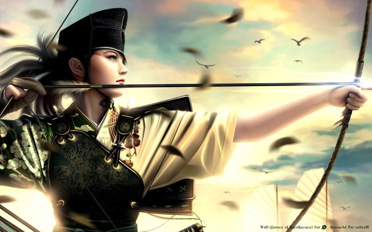 Wallpapers Fantasy and Science Fiction Warriors Tsuruchi Kyudo