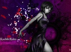 Wallpapers Manga kuchiki rukia black & white