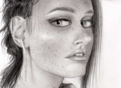 Fonds d'écran Art - Crayon Robin Tunney