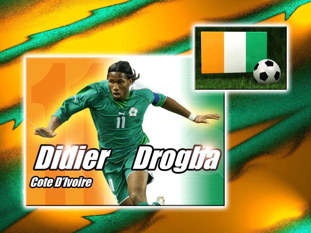 Fonds d'écran Sports - Loisirs Football Didier Drogba Côte d'Ivoire