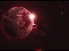 Wallpapers Digital Art Blood Planet