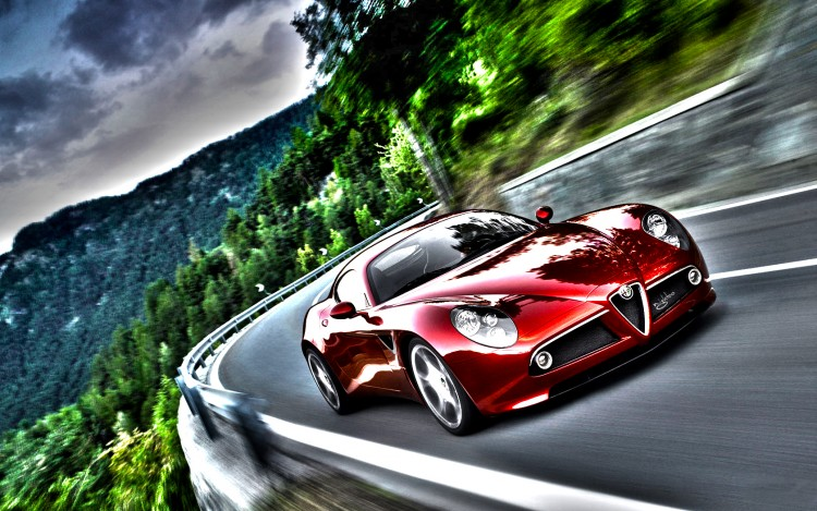 Wallpapers Cars Alfa Romeo Alfa Romeo 8C  HDR