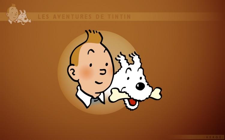 tintin wallpaper. Médaillon de Tintin et Milou