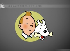 Fonds d'écran Art - Peinture Tintin et milou 2 (effigie)