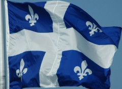 Wallpapers Trips : North America Quebec Flag