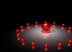 Wallpapers Digital Art 3d balles rouge