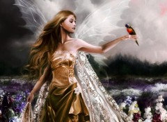 Fonds d'écran Fantasy et Science Fiction Fairy and Bird