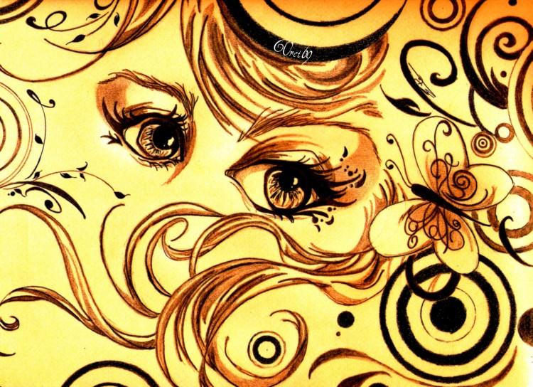 Wallpapers Art - Pencil Eyes Glamorous Eyes 01