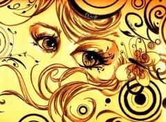 Fonds d'écran Art - Crayon Glamorous Eyes 01
