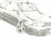 Wallpapers Art - Pencil Nissan Skyline R32 GTR