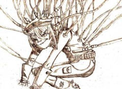 Wallpapers Art - Pencil Cyborg noodle