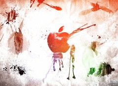 Fonds d'écran Informatique apple_grunge