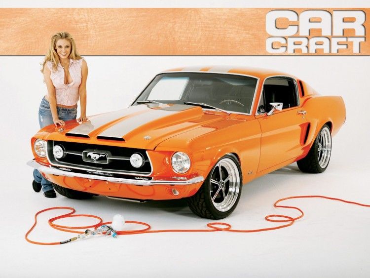 Wallpapers Cars Girls and cars ford mustang
