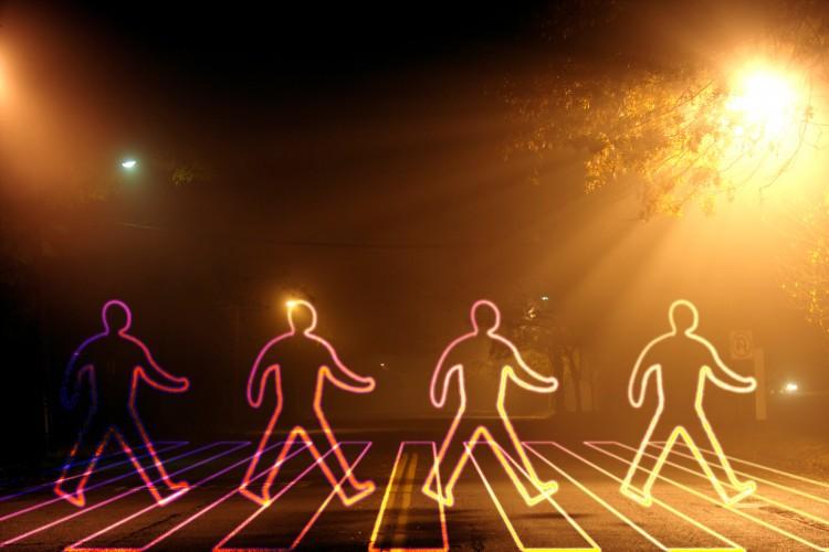 Fonds d'écran Abstrait - Art Lumière Walk