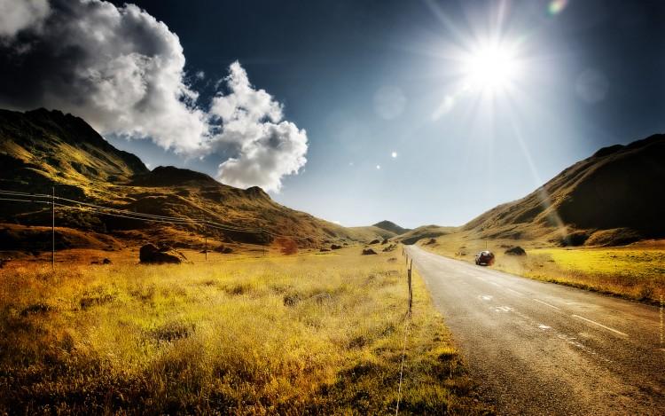 Fonds d 39 cran nature fonds d 39 cran montagnes route de for Fond ecran ete hd