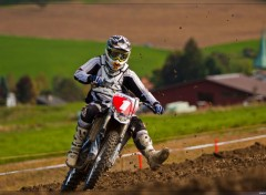 Wallpapers Motorbikes Motocross vu de face
