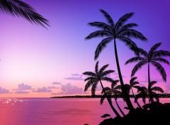 Fonds d'écran Art - Numérique Beach sunset