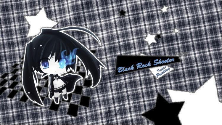 Wallpapers Manga Black Rock Shooter BRS Textile Printing