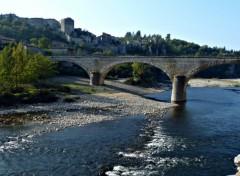 Fonds d'écran Nature L'Ardèche et le Pont de Blazuc