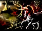 Wallpapers Art - Painting Cheval noir