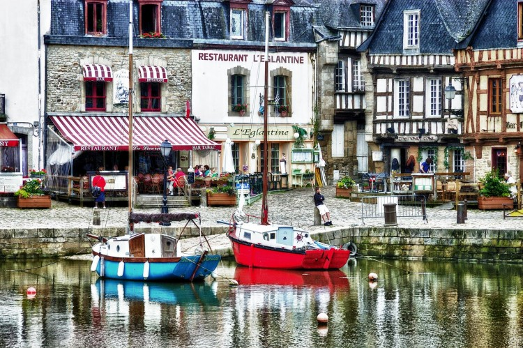 Fonds d'écran Voyages : Europe France > Bretagne Porto di Auray in HDR