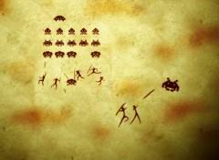Fonds d'écran Jeux Vidéo Fresque Space Invaders