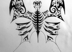 Fonds d'écran Art - Crayon Tribal papillon