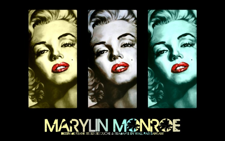 Fonds d'écran Célébrités Femme Marilyn Monroe Drawing of Marylin