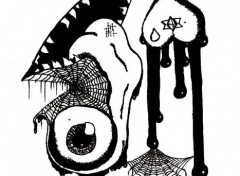 Fonds d'écran Art - Crayon L'oeil, La Bouche, Le coeur et Le Sang...