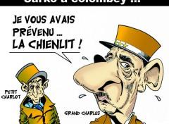 Fonds d'écran Art - Numérique SARKO sur la tombe du Grand Charles ...