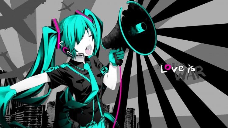 Fonds d'écran Manga Vocaloïds Love is WAR