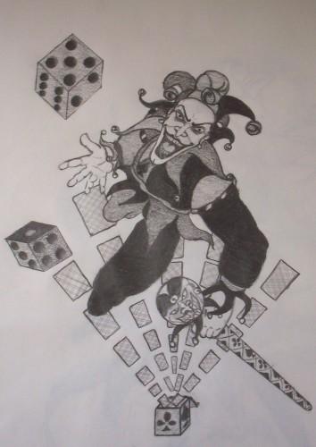 Fonds d'écran Art - Crayon Personnages joker2