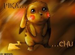 Fonds d'écran Manga Pikachu triste...