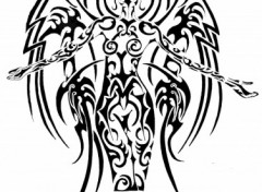 Fonds d'écran Art - Crayon Ange tribal