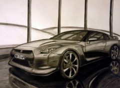 Wallpapers Art - Pencil Nissan skyline GT-R