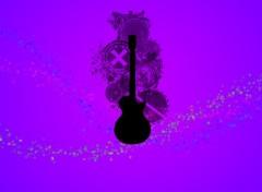 Fonds d'écran Art - Numérique Guitare du printemps