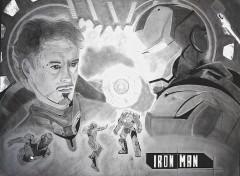 Fonds d'écran Art - Crayon Iron Man