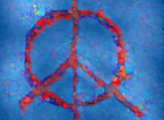 Fonds d'écran Art - Numérique PEACE + LOVE