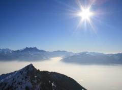 Fonds d'écran Nature Dents du Midi et mer de brouillard