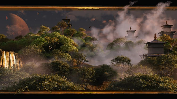 Wallpapers Digital Art 3D - Vue Le temple des brumes