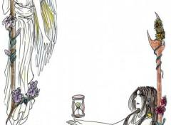 Fonds d'écran Art - Crayon Anges et Hommes