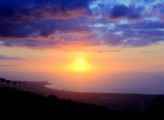 Fonds d'écran Voyages : Afrique Couché de Soleil ( La Réunion )