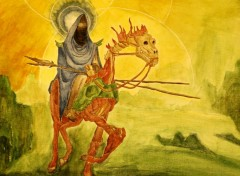 Fonds d'�cran Art - Peinture Cavalier mort