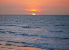 Wallpapers Nature Coucher de soleil dans la mer du nord